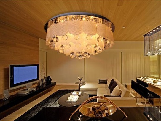 2013 hot sell modern crystal glass ceiling lamp,round ceiling lamp D45*H30cm(China (Mainland))