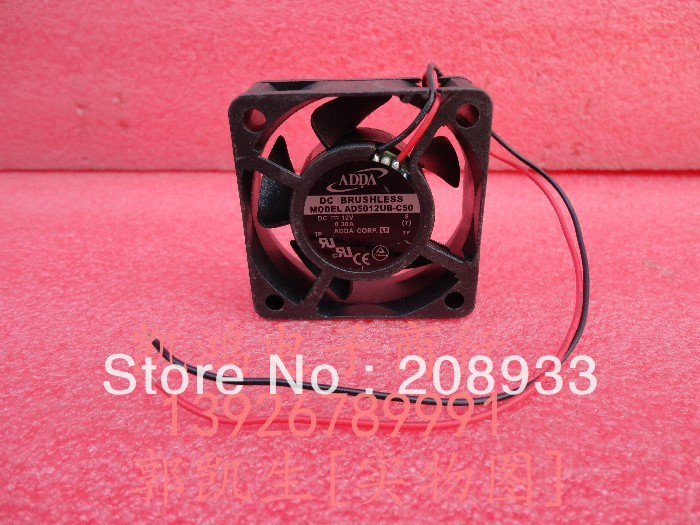 Brand new ADDA 5020 5CM 12V CPU power supply AD5012UB-C50 ++cooling fan(China (Mainland))