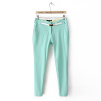 2013 new Women's Casual pants Front Edge Belt 3 cOLORS WXK9478