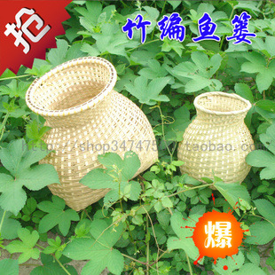 Bamboo crafts Bamboo storage basket dollarfish basket storage basket small basket show props decoration(China (Mainland))