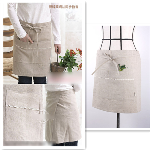 2013 classic linen aprons work wear cleaning services lounge(China (Mainland))