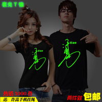 2013 short-sleeve luminous will serve vae edition 100% cotton lovers t-shirt mobile phone rope