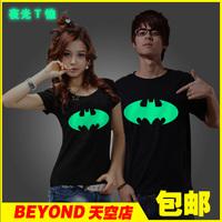 Luminous short-sleeve t-shirt lovers t-shirt 100% cotton round