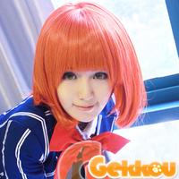 Nanami Haruka 40cm Deep Orange Short Cosplay Costume Wig.Free Shipping