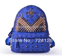 2014 new South Korea  global limited  super flash rivet nail mushrooms couples package unisex backpacks