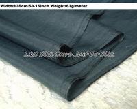 Free shipping silk cotton fabric dark grey for dress decoration scarf,width135cm 53.15inch weight 63g/m #ZSM012-10