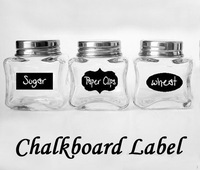 Kitchen Jars Organization 5CM X 3.5CM Chalkboard Sticker Labels Vinyl  3 Design Total 36 Pieces/set,get 4 free decals below