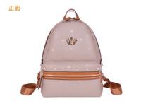 2014 new south Korean teenager j.estina ice cream gilded crown plum backpack bag