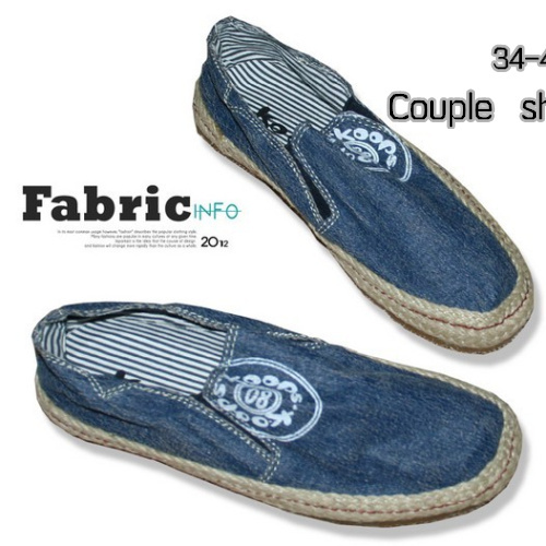 Free International couple shoes Korean men personality stripes old simple canvas shoes lazy shoes shoes low to help(China (Mainland))