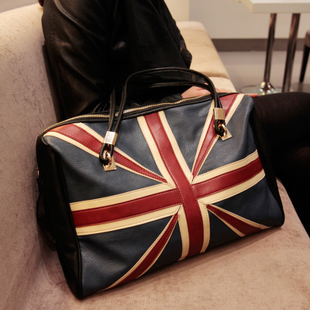 Michael 2013 New England College Wind exclusive Union Jack Tote Shoulder handbag big European and American style shopping bag(China (Mainland))