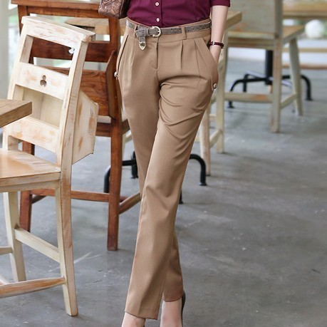 FREE SHIPPING 2013 casual plus size OL women&#39;s outfit slim trousers work wear(China (Mainland))
