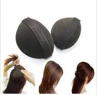 Free Shipping 2 Pcs/lot Magic Princess Hair Raised Styling Hair Maker Hair heighten device Sponge Volume Hair Base Bun Black