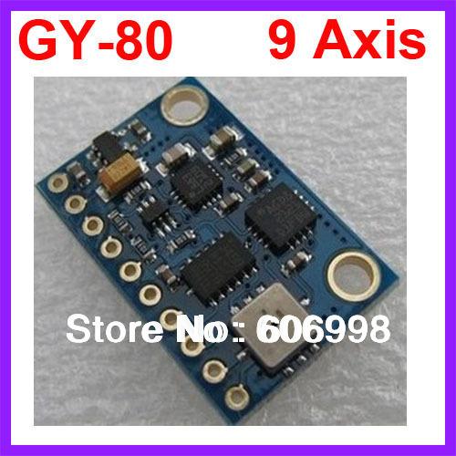 GY 80 10DOF Nine Axis Attitude L3G4200D ADXL345 HMC5883L BMP085 Module Free Shipping Dropshipping