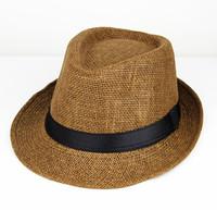 Spring and summer brief strawhat male women's fedoras straw braid hat