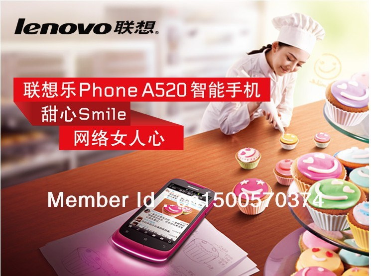 Special offer promotion/Lenovo Lenovo A520 android smartphone for women straight touch screen is bag mail(China (Mainland))