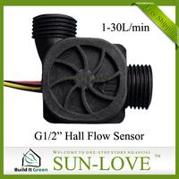 "SL-HW21WA 6pcs a lot Sensor Water 1-30L/min Food Grade Nylon G1/2"" Threaded End,Free Shiping"