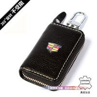 Free Shipping!Cadillac car leather key chain car key bag key chain Auto Key Holder New available!