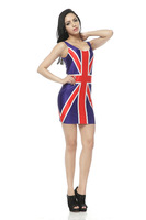 Hot Design Galaxy Star British Flag Tank Dress,Waist Vest Dress,O-Neck Knee-Length Sleeveless Print Skirt TQ009 Dropshipping