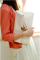Free shipping 2013 fashion lady clutches bags, leather clutches woman bag, same as pictures  new handbag