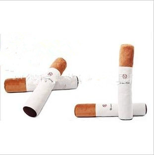 pillow cushion for leaning on quitting smoking plush pillow cigarette smoke novelty birthday present for your boyfriend 80cm(China (Mainland))