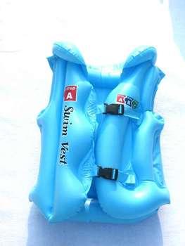 Child life vest inflatable child swimwear swimming ring inflatable vest bunts swim ring