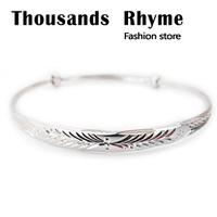 925 pure silver bracelet platinum car flower bracelet mantianxing pure silver female silver bracelet lettering