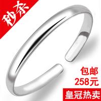 990 pure silver bracelet aperture glossy silver bracelet 999 fine silver bracelet Women