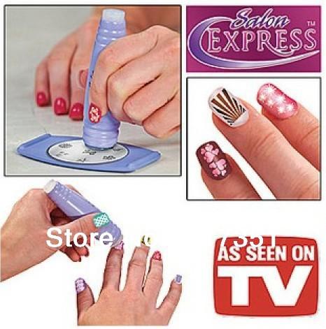 Nail Art Stamp Stamping kit Polish Nail Decoration as seen on tv T1005