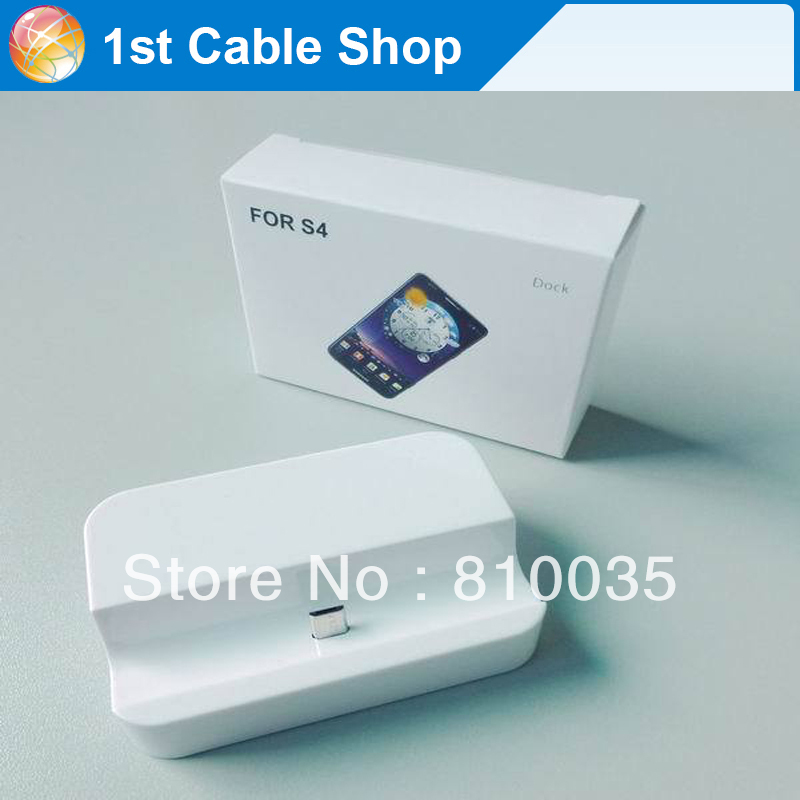 Free shipping&wholesale 1PCS/lot USB sync&charger docking station for samsung S4 i9500 in retail pacakage(China (Mainland))