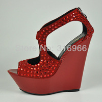 EMS Free shipping women's heels size 13 New Arrival brand shoes woman high heels wedding with spiked wholesale/Retail #YD1086