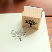 Free Shipping Fashion Stationery creative handmade homemade handcraft DIY scrapbooking wooden rubber stamp seal Wholesale