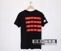 Fashion Men Cotton Short Sleeve T-shirt Shirts Tops Tees Five-star Tees Tops Tank
