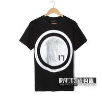 Fashion Men Embroidery Short Sleeve T-shirt Shirts Tops Tees Tank