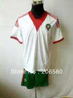Free shipping,13/14 season top quality Morocco away white soccer jersey
