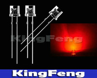 Free Shipping  1000pcs 5mm Red Flat Top Ultra Bright  Light  Water Clear  Led Lamp
