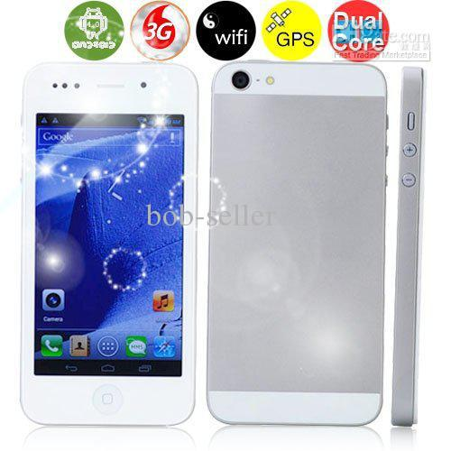MTK6577 phone5 Android 4.0 cell phone 1.5GHz Dual core 4.0 FWVGA 854*480 4GB RAM 8.0 mp GPS phone(China (Mainland))