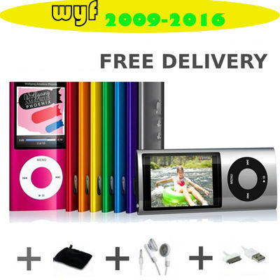 NEW 5th 8GB MP3 MP4 Player with Camera Music Video FM Radio Touch Wheel Scroll Button Player free shipping(China (Mainland))