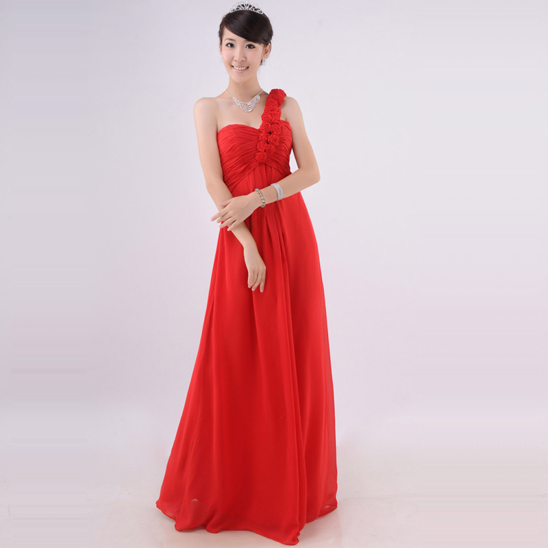 gift women cloth Wedding dress bride long design straight formal(China (Mainland))