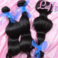 LUFFY hair products virgin peruvian hair body wave,100% human unprocessed hair4pcs lot,Grade 5A,