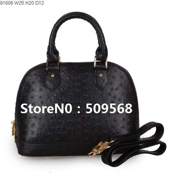 HOT 2013 bags famous brands handbags , ostrich grain genuine leather hand bags, women bags designer ,ladies handbags bags(China (Mainland))