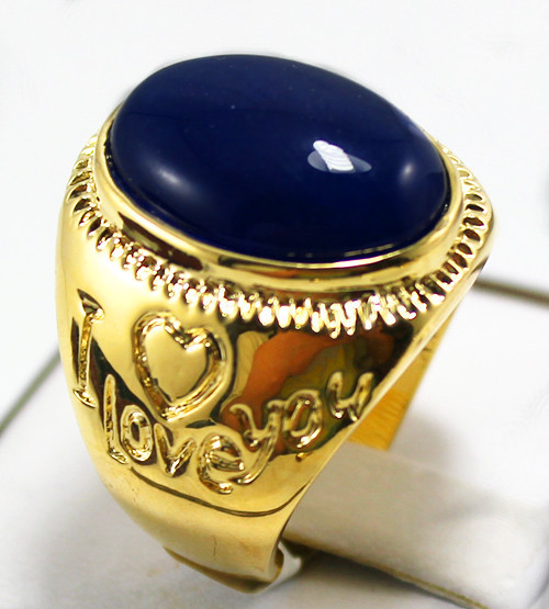 R00007 New Fashion 18K Gold Plated Jade Ring(China (Mainland))