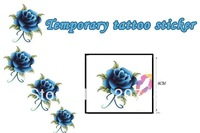blue peony Good quality Temporary tattoos Waterproof tattoo stickers body art Painting wholesale
