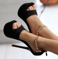 Free shipping NEW high heel sandals fashion women dress sexy shoes slippers P6051 hot sale EUR size 34-39