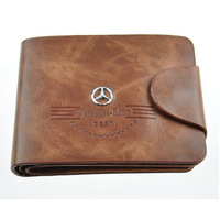 2013 NEW PU Leather Men Wallets Short-Length Wallets /purse car LOGO 5 styles