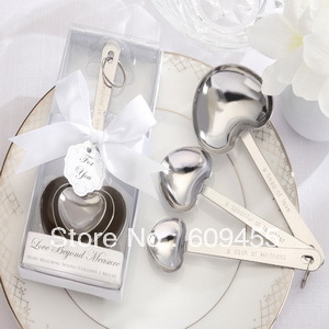 NEW ARRIVEAL+ &quot;Love Beyond Measure&quot; Measuring Spoons In White Box Wedding Favors(RWF-0073P)+100sets/lot+FREE SHIPPING(China (Mainland))