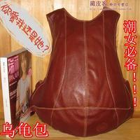 2013 vintage genuine leather backpack turtle 100% women's leather handbag 151527