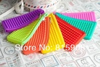 free shipping silica gel coin purse silicone wallet clutch pouch bag handbag Gustless  soft  jelly  zipper  mushroom jelly