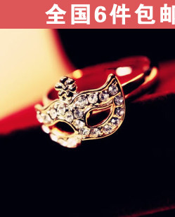 H1214 accessories bohemia mask diamond small flowers masked ring finger ring(China (Mainland))