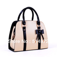 Best Selling!!2013 New Fashion Lady vintage bow decorate candy color handbags single shoulder bags Free Shipping