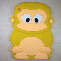 3D Monkey Silicon Case Covers Skins For ipad mini.cheapest price wholesales in stock Free Shipping